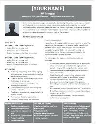 This Is Hr Manager Resume Executive Resume Sample Career Objective ...