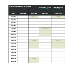 create college class schedule free semester schedule template for excel class routine