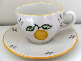 FOUR LAURA ASHLEY CUPS AND SAUCERS SUMMER FRUITS LEMON | #1778403364
