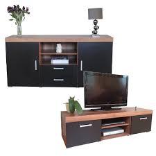 display units for living room sydney. black \u0026 walnut sydney large sideboard tv cabinet 140cm unit living room furniture set: amazon.co.uk: kitchen home display units for n