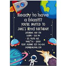 Space Party Invitation Amazon Com Universe Outer Space Birthday Party Invitations