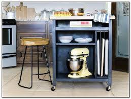 Image of: Vintage Kitchen Island on Wheels with Seating