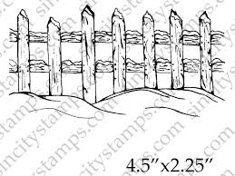 fence drawing. 1200x900 Winter Snowscape Wood Fence Border Rubber Art Stamp Pam Bray Drawing