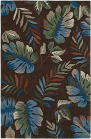 brown trees canopy leaves palm tropical area rug fl mm1