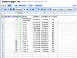 Making A Gantt Chart With Google Docs
