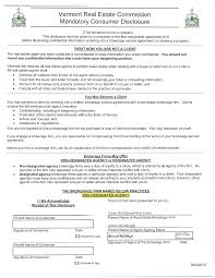 Consumer Form Vermont Consumer Disclosure Form Because Nice Matters 1