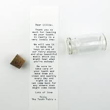 letter in a bottle personalised tooth fairy letter in a bottle by sarah hurley