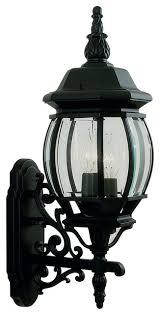 livex lighting frontenac outdoor wall lantern in black