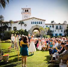 wedding in the sunken gardens santa barbara courthouse