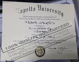 Capella University Phd Certificate Fake Capella University