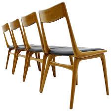 1950 Dining Room Furniture Erik Christensen Boomerang Dining Chairs Teak And Leather