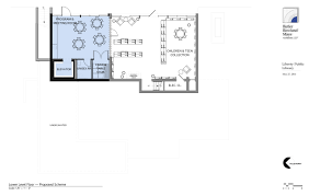 Liberty Public Library  Building Plans Lower Level  Program Room - Handicap accessible bathroom floor plans