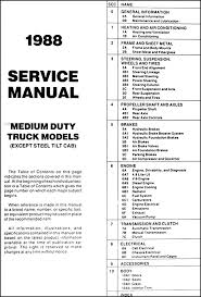 1988 1989 gmc chevy medium duty 4000 7000 repair shop manual original 1979 gmc 7000 wiring diagram 4000 7000 repair manual original table of contents 1978 Gmc 7000 Wiring Diagram