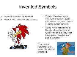 symbolism ppt video online  invented symbols symbols can also be invented what is the symbol for our school