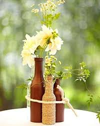 grouped wine bottle centerpiece