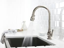 Polished Nickel Kitchen Faucet Standard Plumbing Supply Product Kohler Artifactsar K 99259 Sn
