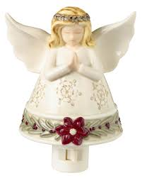Angel Night Light Porcelain Beautifully Sculpted Angel Night Light From Grasslands Road