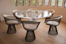 platner furniture. Collect This Idea 9PlatnerArmchair_ClearRoundDiningTable Platner Furniture -