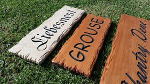 carved timber signs australian work creations wooden signs