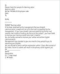 Hr Warning Letter Template Disciplinary Gables Warning Letter For Absenteeism