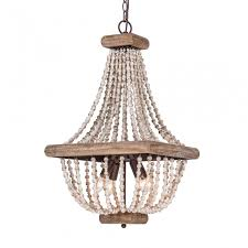 more views boone square wood bead chandelier