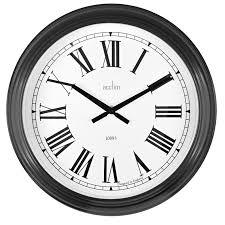 large black station style clock