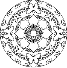 Easy Mandala Coloring Pages Printable To Print For Kids Wumingme