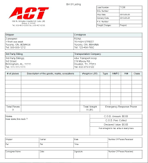 Billing Form Template Simple Shipping Bill Of Lading Trucking Template Freight Form Zeitgeberco