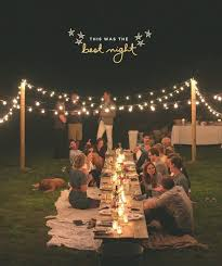 outdoor dinner party lights photo 5