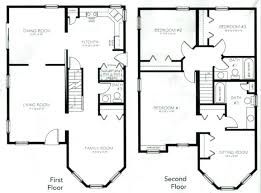 plans inspirational 2 story 4 bedroom 3 bath house plans 1