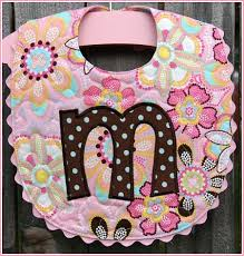 Best 25+ Baby bibs patterns ideas on Pinterest | Bibs, Baby bibs ... & Initial Quilted Baby Bib Pink Floral - idea only. Adamdwight.com