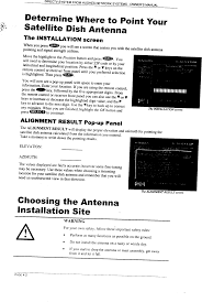 Directv Azimuth And Elevation Chart Hns1028719 Digital Satellite R C Transmitter User Manual