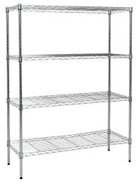 4 shelf wire rack hardware chrome shelving with wheels alera