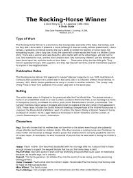 rocking horse winner essay the rocking horse winner plot summary schoolbytes literature