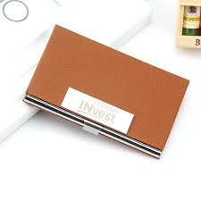 personalized business card holder personalized business card holder for men women custom logo engraved leather business card case corporate gift custom