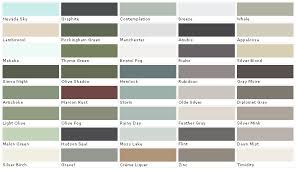 Exterior House Paint Color Chart House Paint Color Chart