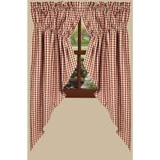 Red Swag Kitchen Curtains Curtains Cobblestone Cottage Lt Moses Willard