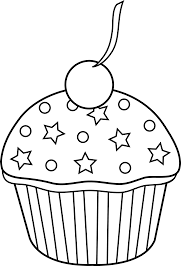 birthday cupcake clip art black and white. Delighful Black Vector Royalty Free Library Birthday Cupcake Clipart Black And White Cute  Outline To Color To Cupcake Clip Art Black And White R