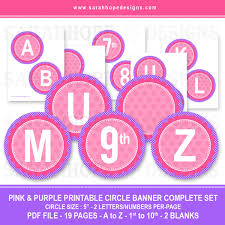 Printable Letter For Banners Spell Out Anything With These Free Alphabet Circle Banners