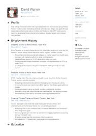 Simple Cv Examples Uk Best Fitness And Personal Trainer Resume Example Livecareer