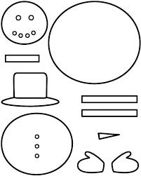 Snowman Template Printable Drawn Snowman Template Free Clipart On Dumielauxepices Net