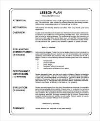 sample lesson plan outline sample lesson plan template printable example pictures splendid