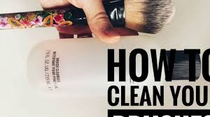 how to clean makeup brushes without
