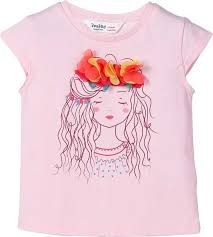Beebay Size Chart Beebay Girls Applique Cotton Blend T Shirt Price In India