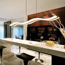 modern led chandelier dining room living room acrylic lamp home lighting wave shape dimming chandeliers light