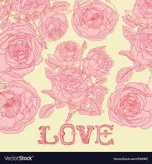 vintage love background. Delighful Vintage Vintage Floral Love Background Vector Image To