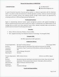 71 Cool Photos Of Example Of Resume Hr Manager Sample Resume