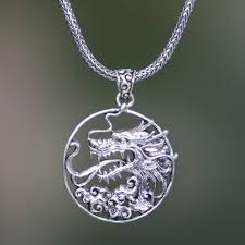 men s sterling silver dragon necklace victorious