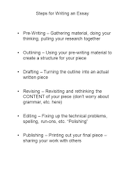 steps for writing an essay pre writing gathering material doing 1 steps for writing an essay