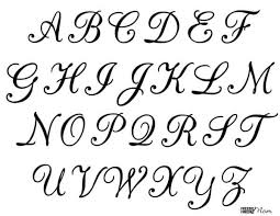 Templates Alphabet Letters Free Printable Calligraphy Letters Free Letter Stencils
